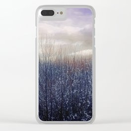 Snow in the Trees Clear iPhone Case