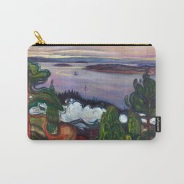 Train Smoke by Edvard Munch Carry-All Pouch