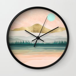 Spring Forest Lake Wall Clock