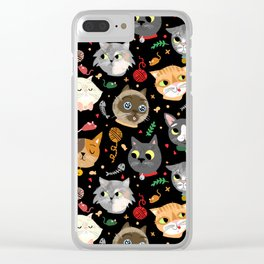 Neighborhood Cats in Black Clear iPhone Case