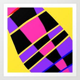Block abstract bold design bright colors Art Print