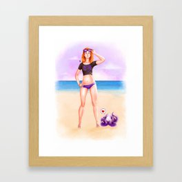Purple Espiral Beach Framed Art Print