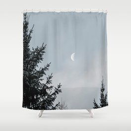 Half Moon | Nature and Landscape Photography Shower Curtain