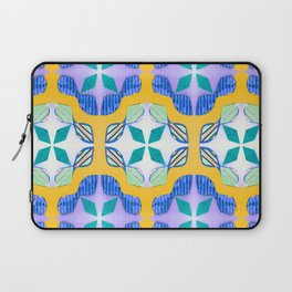 Bow Tie Tile in purple Laptop Sleeve