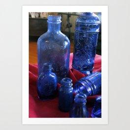 BlueGlass Art Print