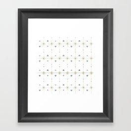 Jazzy Okami Pattern Framed Art Print