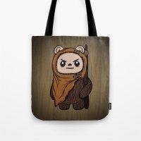 ewok Tote Bags featuring Cartoon Ewok by Team Rapscallion