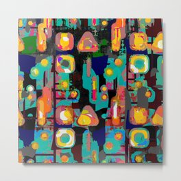 Colorful painted shapes Metal Print