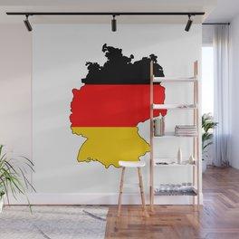 German Flag Map Wall Mural