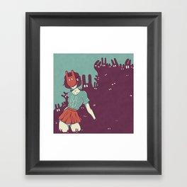 Bun babe Framed Art Print