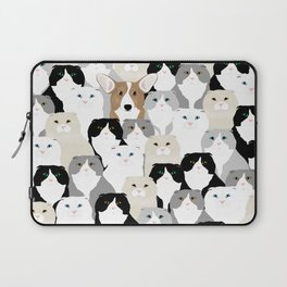 Cats and Dog Laptop Sleeve