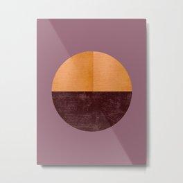 Black and Gold Circle 15 Metal Print