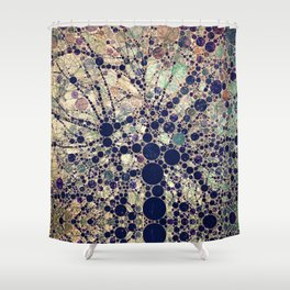 Colorful tree loves you and me. Shower Curtain