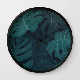 Monstera Deliciosa Wall Clock