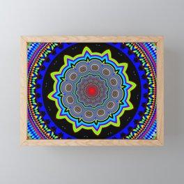 Zoom Mandala Framed Mini Art Print