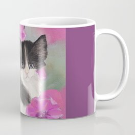 Black and White Kitten Coffee Mug