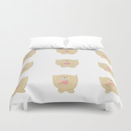 Curious buddy Duvet Cover