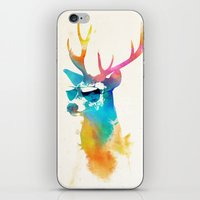 stag iPhone & iPod Skins featuring Sunny Stag by Robert Farkas