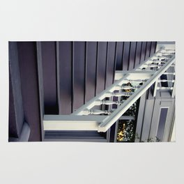 Purple Stairs With Picture Window Rug