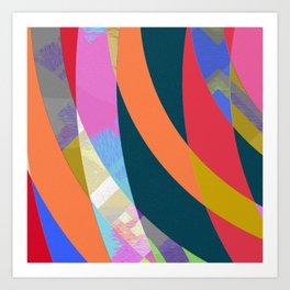 Boring but Pleasant Office Abstract Modern Art Art Print