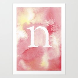 n watercolor Art Print
