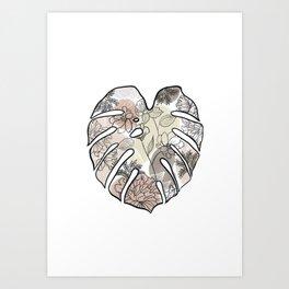 monstera Art Print