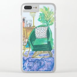 Green chair Clear iPhone Case