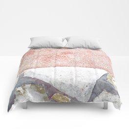 Abstract Pink Art Comforters