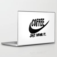 coffee Laptop & iPad Skins featuring Coffee by Hand Drawn Type