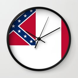 Bloodstained Banner Of The Confederacy Wall Clock