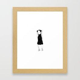 Fashion woman sketch Framed Art Print