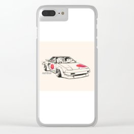 Crazy Car Art 0161 Clear iPhone Case