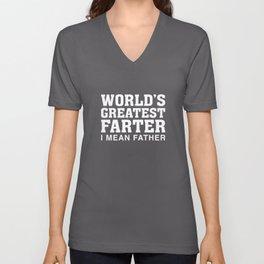 World's Greatest Farter Unisex V-Neck