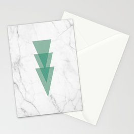 Marble Scandinavian Design Geometric Triangle Stationery Cards