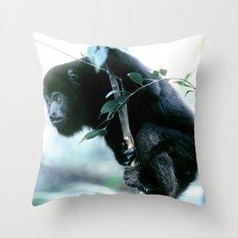 Howler Monkey in Costa Rica Throw Pillow