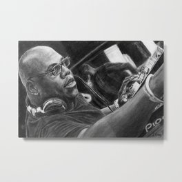 Carl Cox Pencil Drawing Metal Print