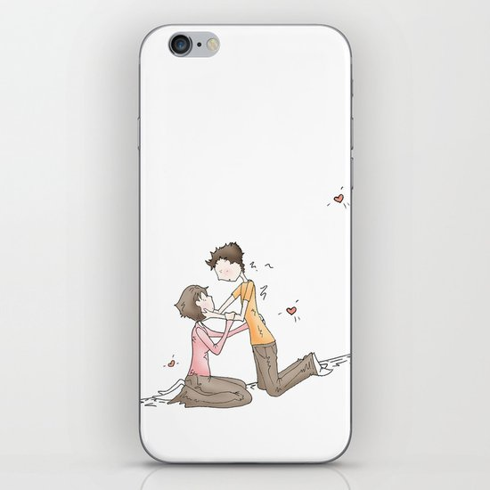 Hold your Hand, Illustration iPhone Skin