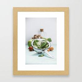 fresh vegetables Framed Art Print