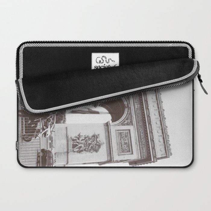 SALE, PARIS Italy Photography, Set of 4 Prints, Travel Decor, Black and White, Colosseum, ART Laptop Sleeve