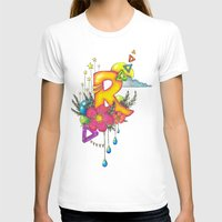 letter T-shirts featuring letteR by Essie Stolmar