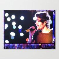 zayn malik Canvas Prints featuring Zayn Malik by Brittny May