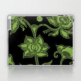 Vintage Floral Greenery and Black Laptop & iPad Skin