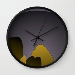 Moon Rock Wall Clock