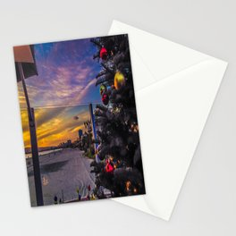 Belmont Shores Christmas Sunset Stationery Cards