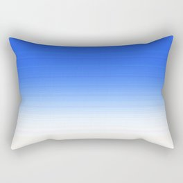 Sky Blue White Ombre Rectangular Pillow