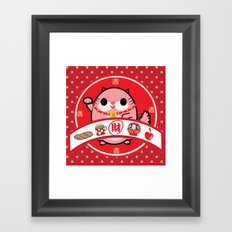 Lucky charm pink lady Framed Art Print