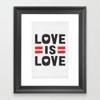 Love is Love Framed Art Print