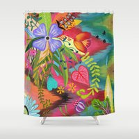 into the wild Shower Curtains featuring Wild by Kacy Latham