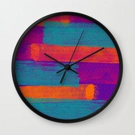 Tone in Stripes Wall Clock