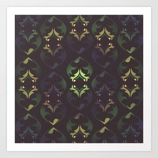 Heart Forest Art Print